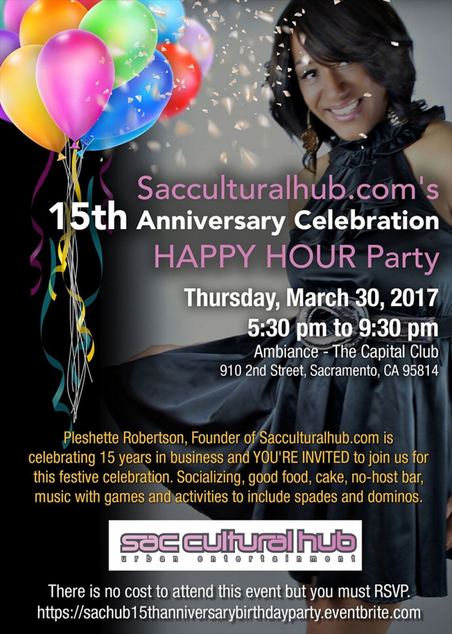 You're Invited: Sacculturalhub.com's 15th Year Anniversary Party