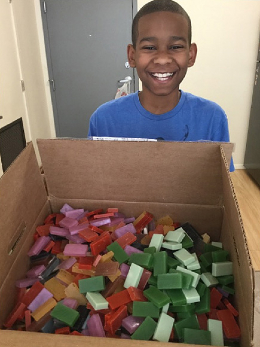 Formerly Homeless Teen Entrepreneur Makes Soap for Shelters