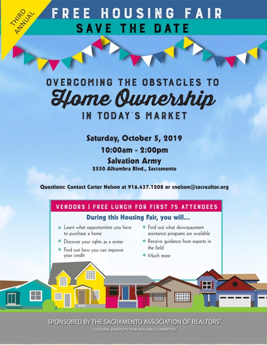 FREE HOUSING FAIR this Sat-10/5 > Learn All About Home Ownership