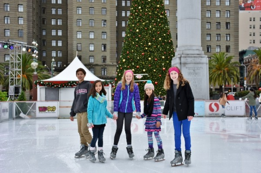 The Safeway Holiday Ice Rink in Union Square Celebrates 10 Years of Outdoor Ice Skating