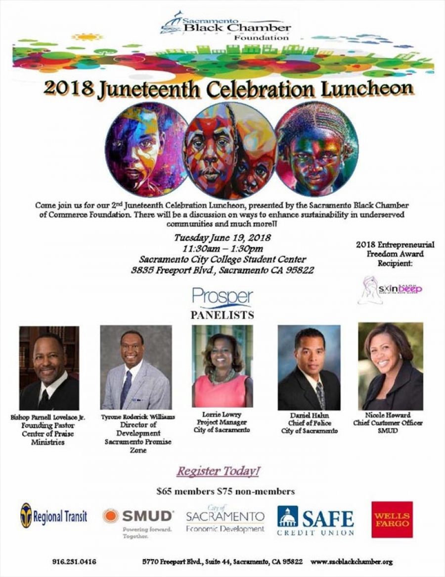 Juneteenth Celebration Luncheon at Sac City College - Tues-June 19th