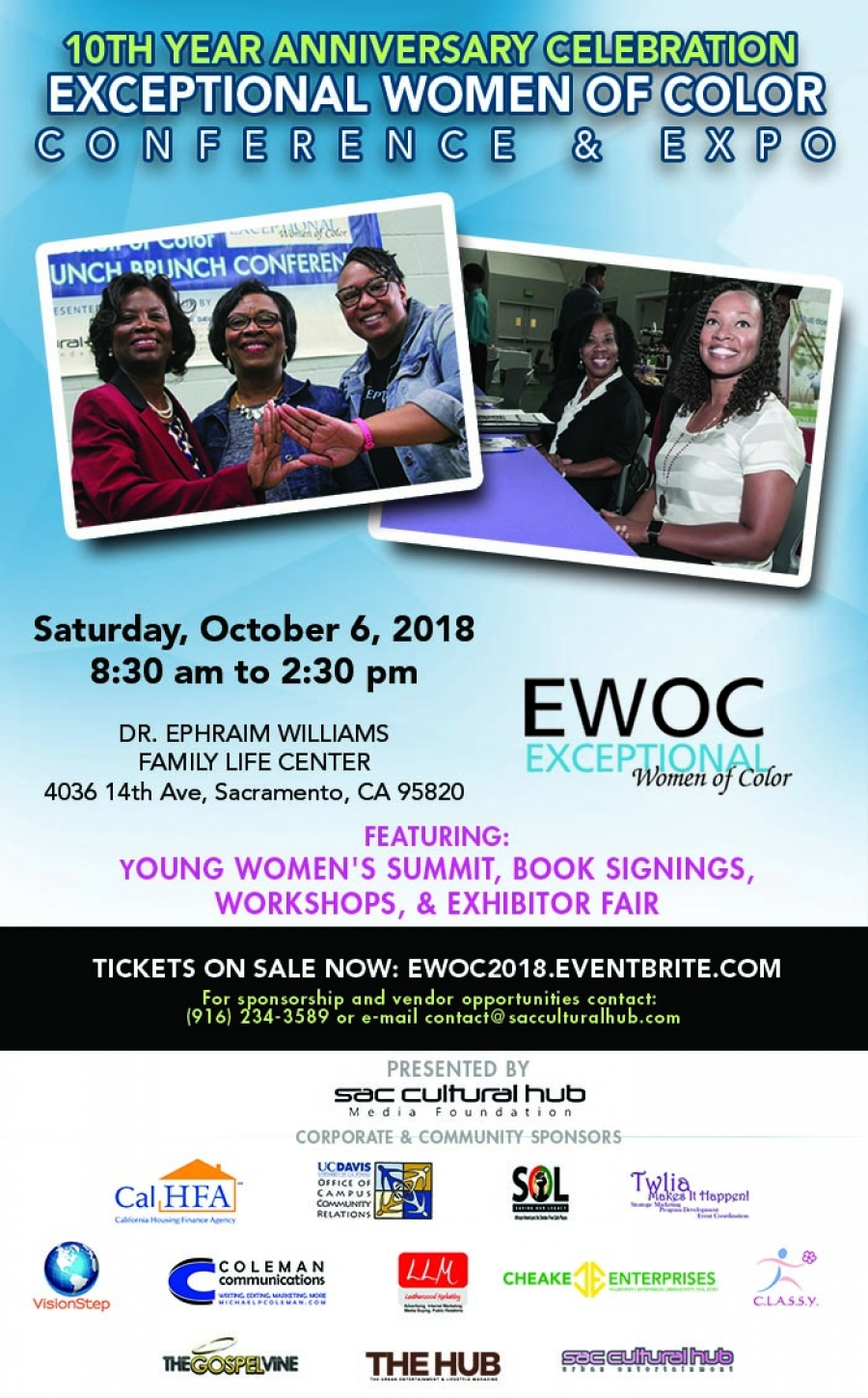 WOMEN MATTER: Claiming Physical Health & Financial Wealth at the 10th Year Anniversary Celebration of EWOC Conference