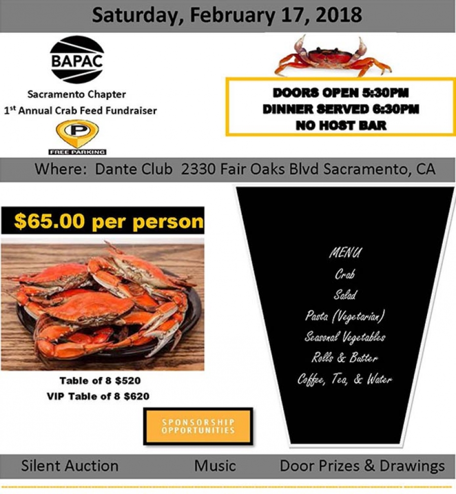 BAPAC's 1st Annual Crab Feed Fundraiser