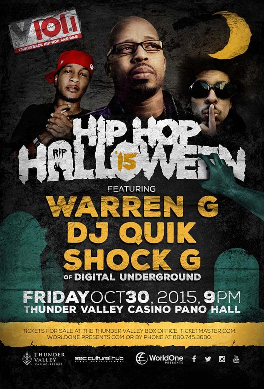 Hip Hop Halloween Party featuring Warren G, DJ Quik and Shock G ...