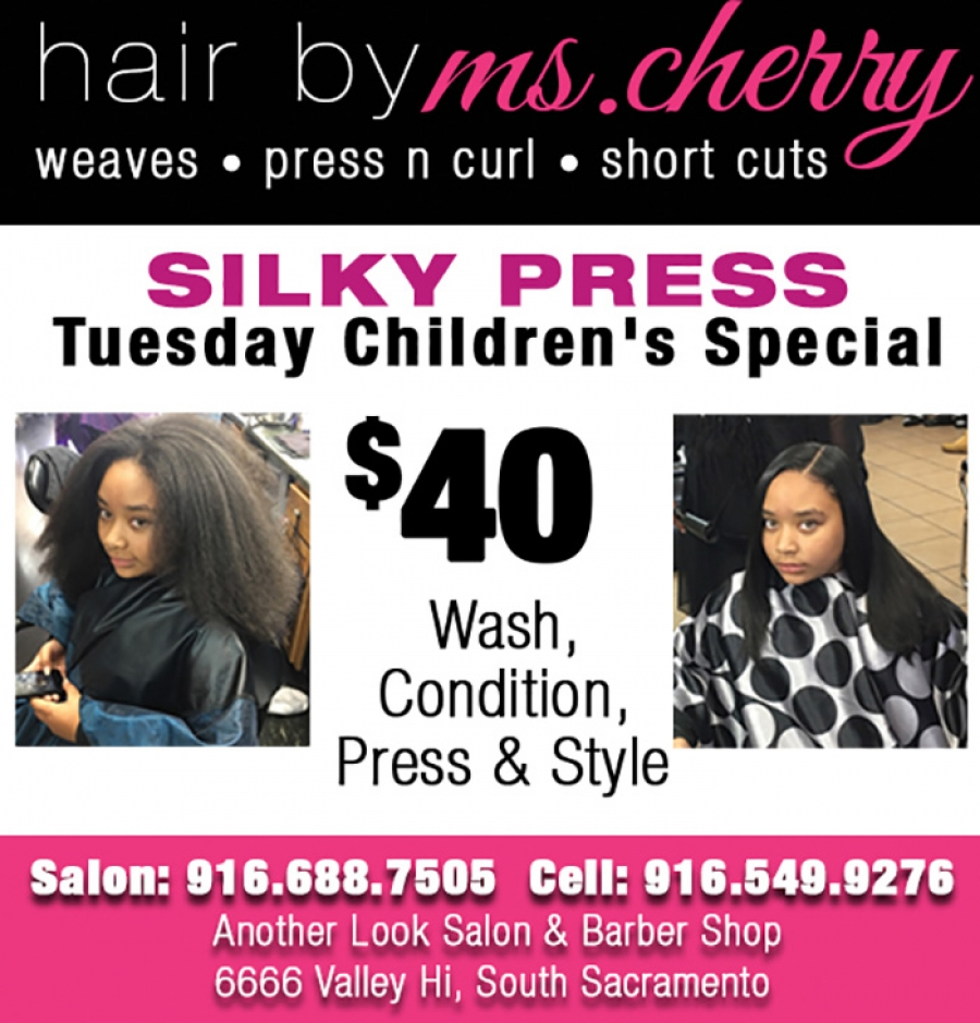 Silky Press Tuesday Children's Special at Another Look Hair Salon