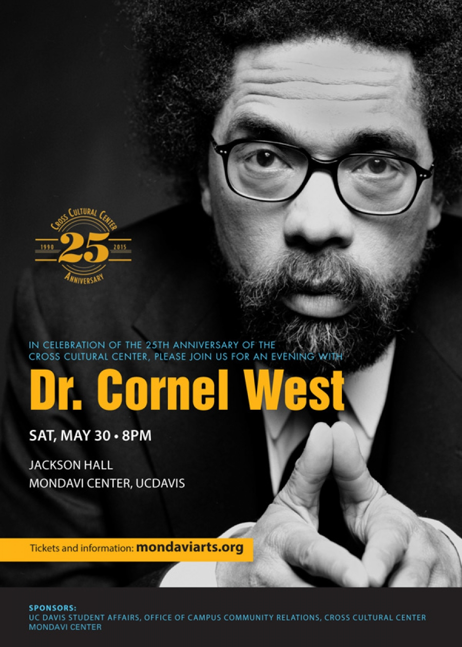Please join us for an evening with Dr. Cornel West