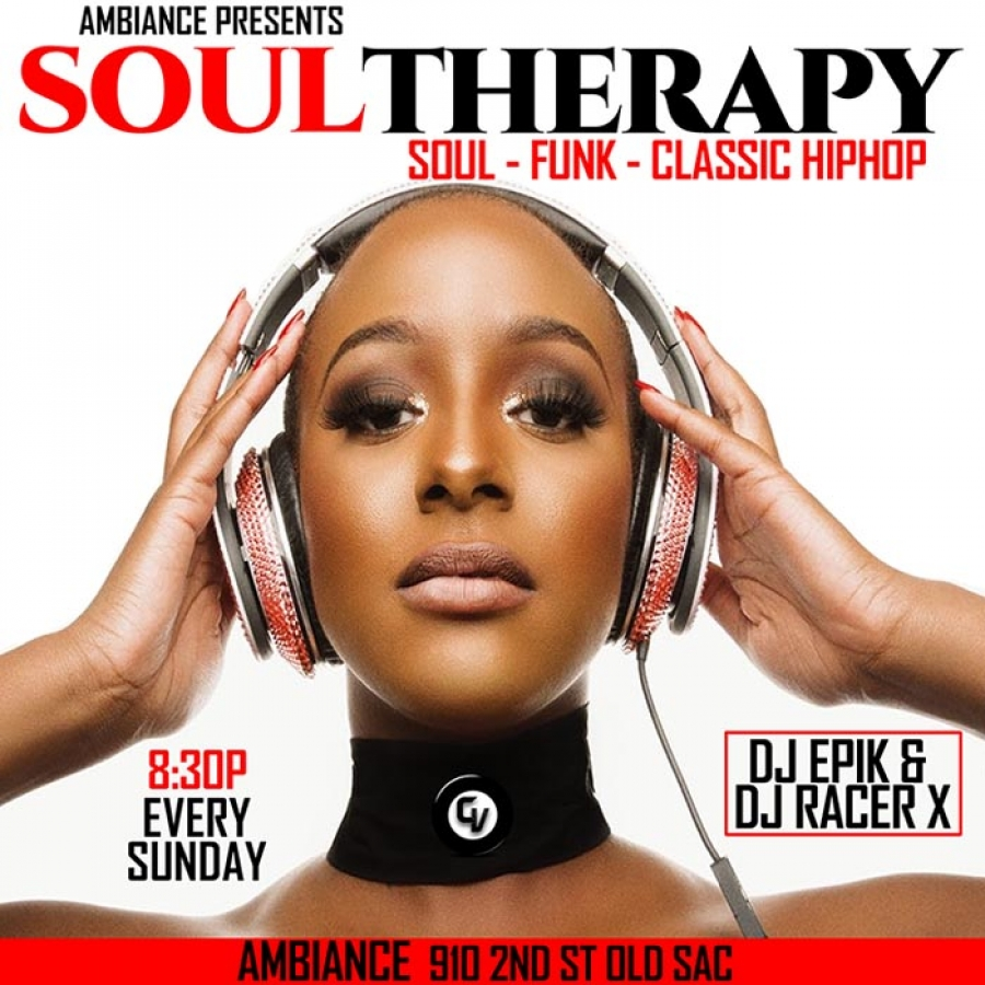 Come get some Soul Therapy every Sunday inside Ambiance Lounge