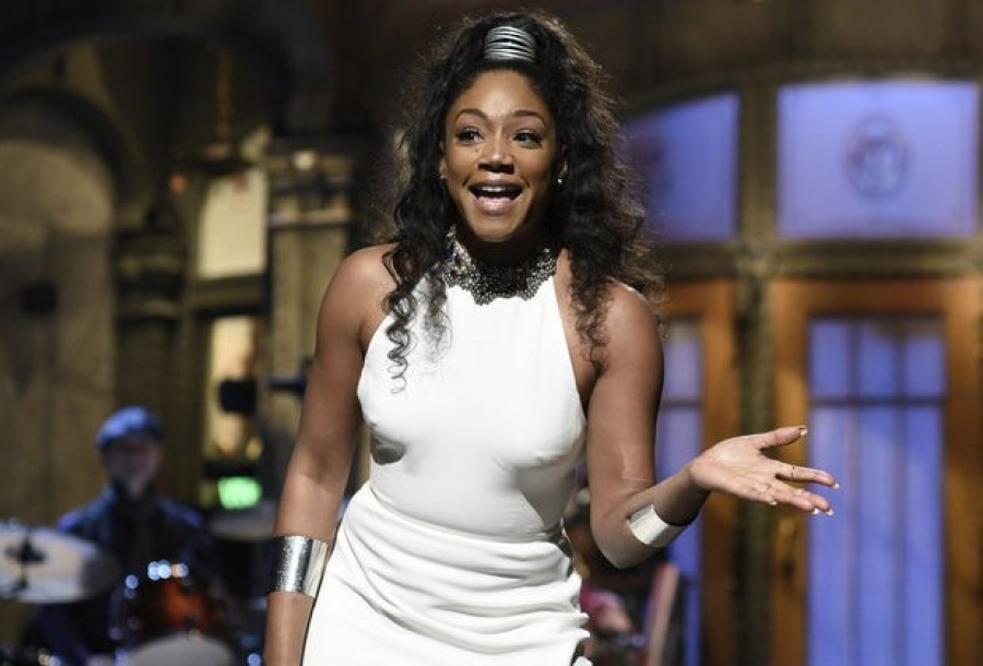 Tiffany Haddish addresses Hollywood sexual misconduct allegations in SNL opening monologue
