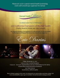 2017 California Champions of Mental Health Charity Awards Dinner and Jazz Concert
