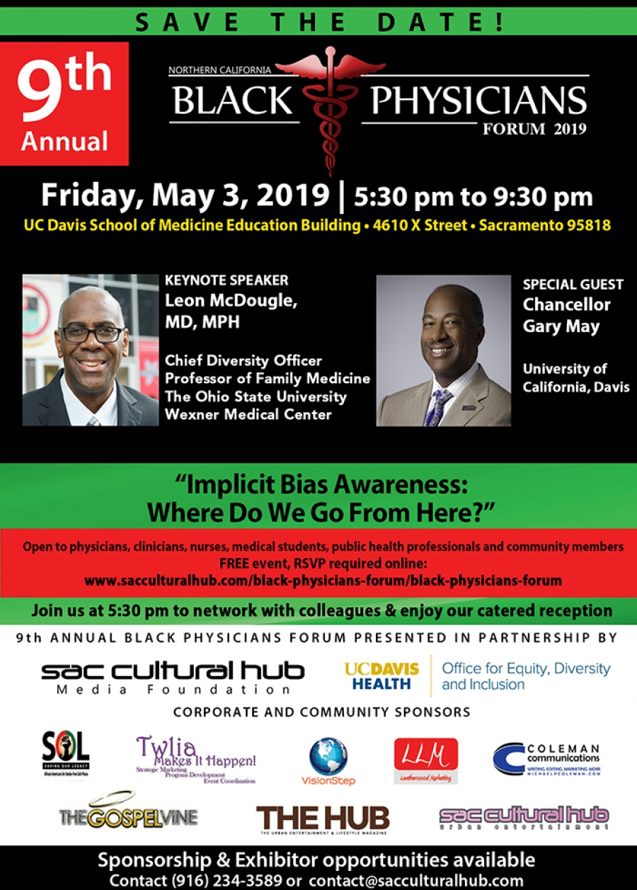RSVP for the 9th Annual Black Physicians Forum - May 3 in Sacramento