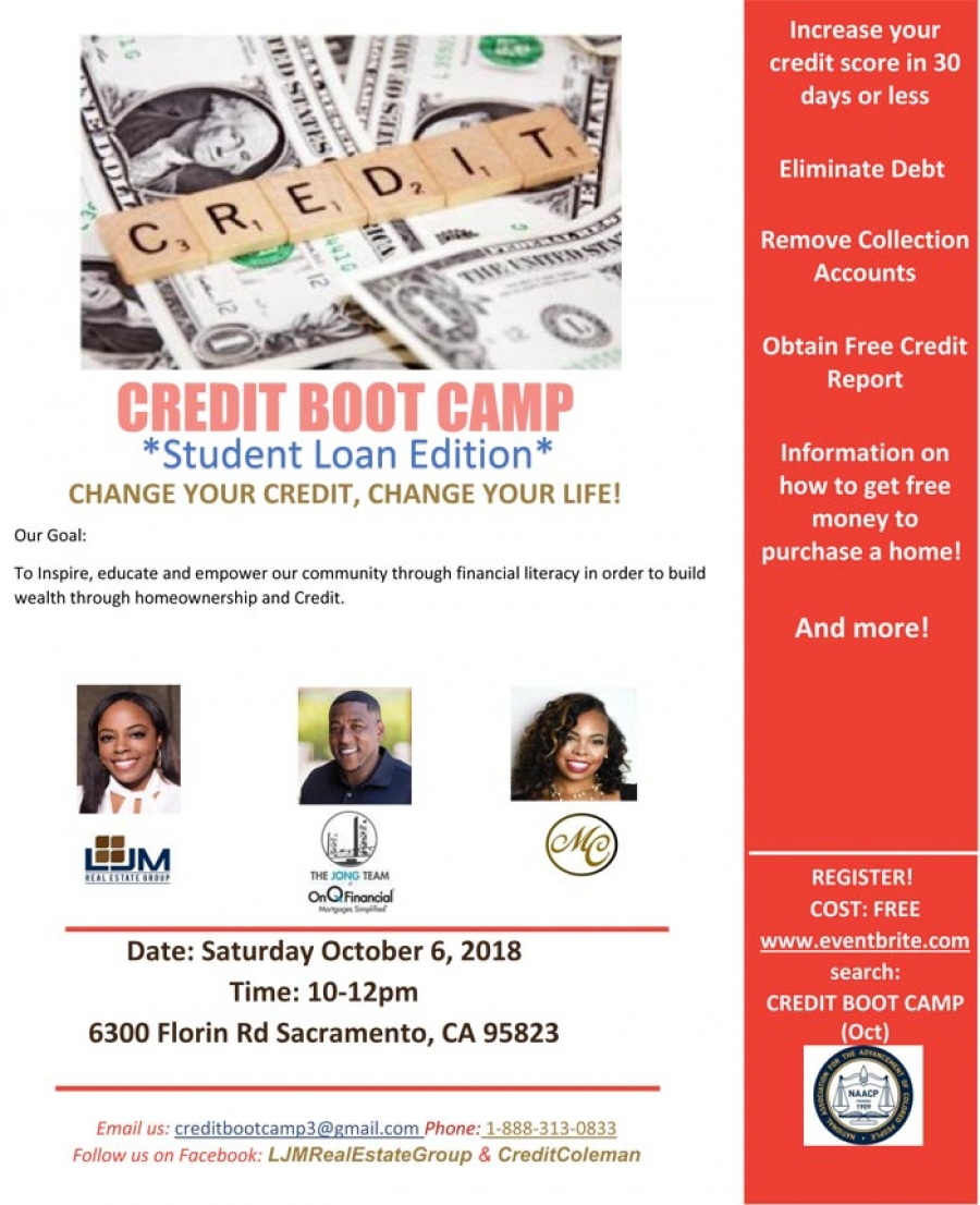 Credit Boot Camp presented by the Sacramento NAACP