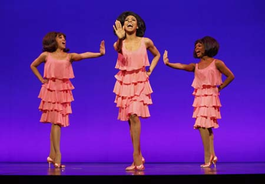 Krisha Marcano (Florence Ballard), Allison Semmes (Diana Ross) & Trisha Jeffrey (Mary Wilson) MoTOWN THE MUSICAL First National Tour (c) Joan Marcus, 2014