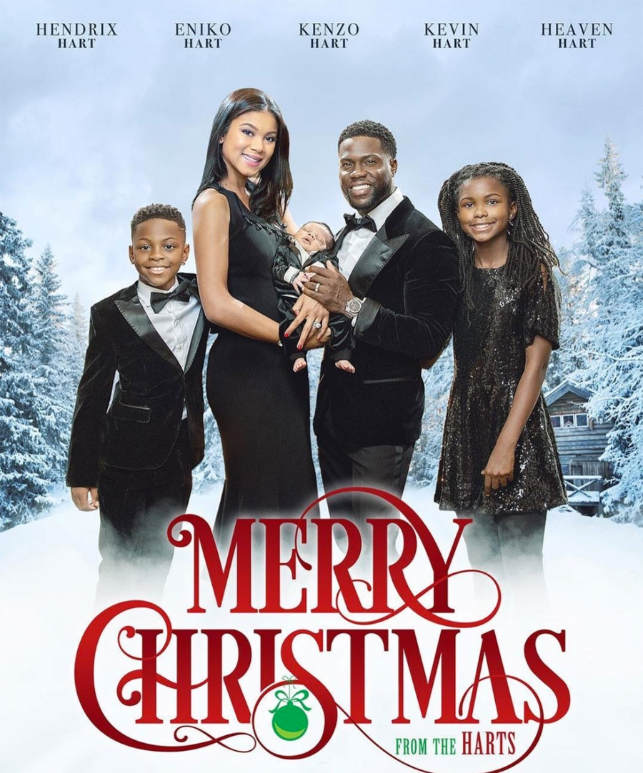 Kevin Hart and His Family Star in Their Very Own Movie Poster-Themed Christmas Card