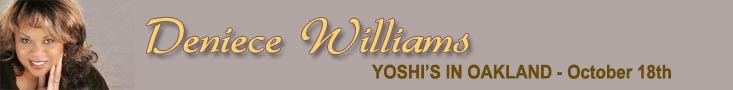 Deniece Williams at Yoshis Oct 18th