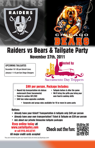 Raders vs. Bear & Tailgate Party in SF