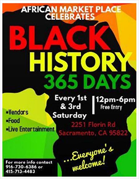 African American Market Place in Sacramento 1st and 2nd Saturdays
