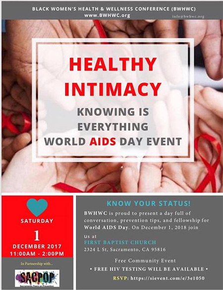 Health Intimacy World AIDS Day event