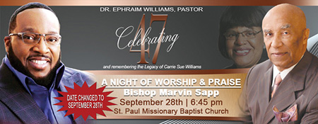 St. Paul Baptist Church Upcoming Events