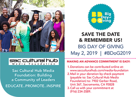 REMEMBER Sac Cultural Hub Media Foundation on Big Day of Giving > May 2, 2019