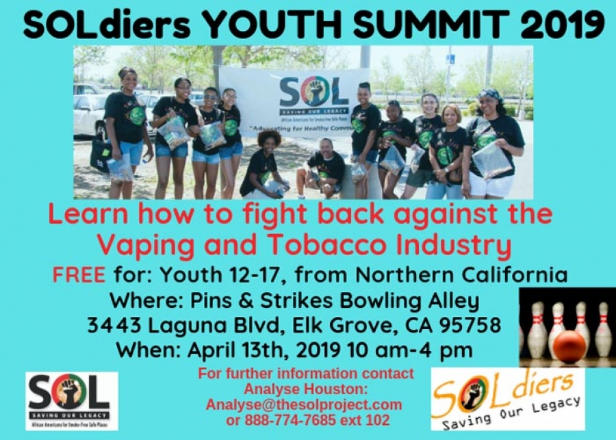SOLdiers Youth Summit 2019 - Come LEARN & BOWL at Pins & Strikes Bowling Alley