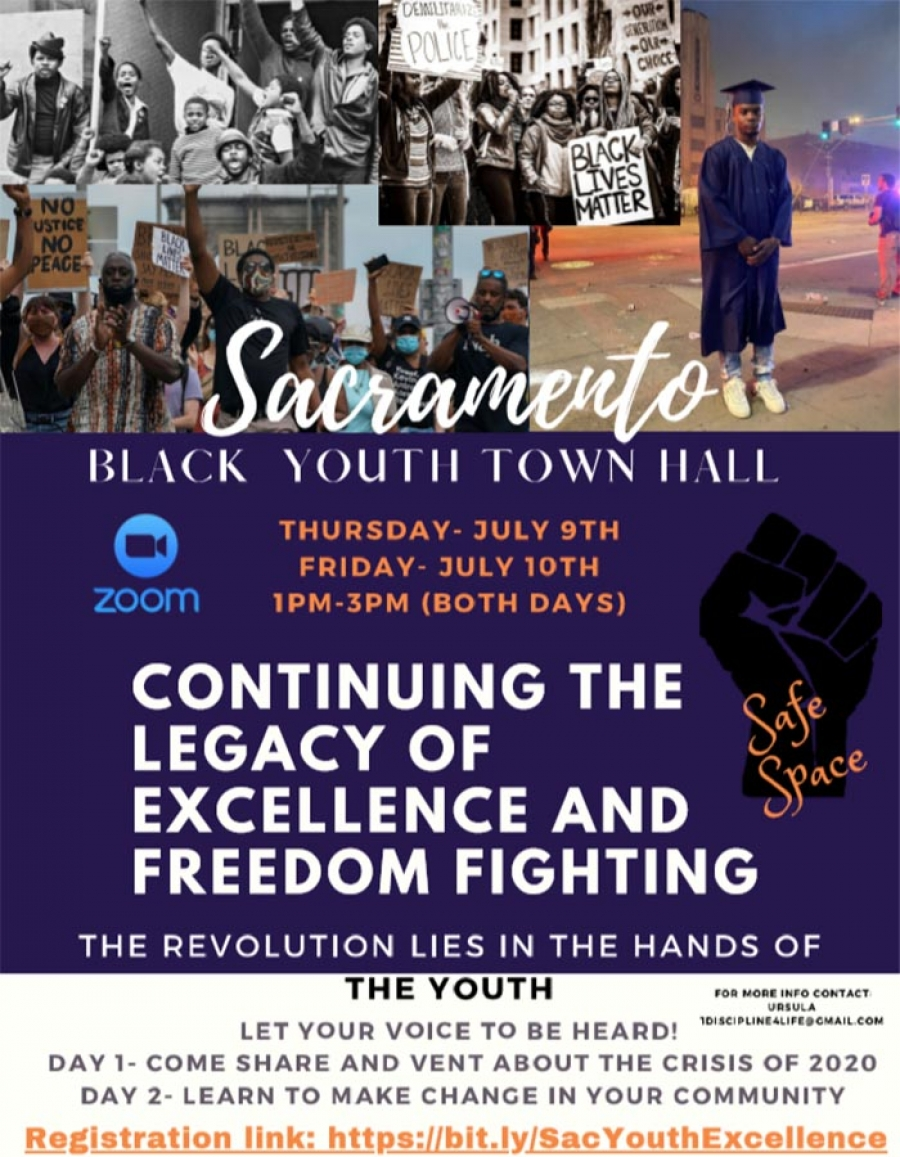 Black Sacramento COVID-19 Virtual Town Hall Series - Black Youth Town Hall, 7/9 and 7/10