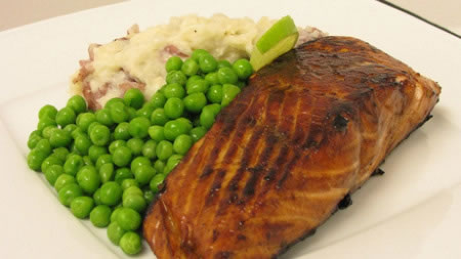 Salmon Fillets with a Lime Balsamic Marinade