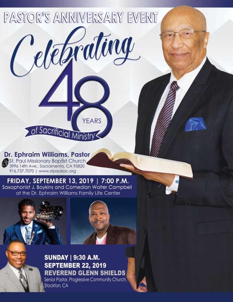 Pastor Dr. Ephraim Williams Anniversary Event - Celebrating 48 years of sacrificial ministry