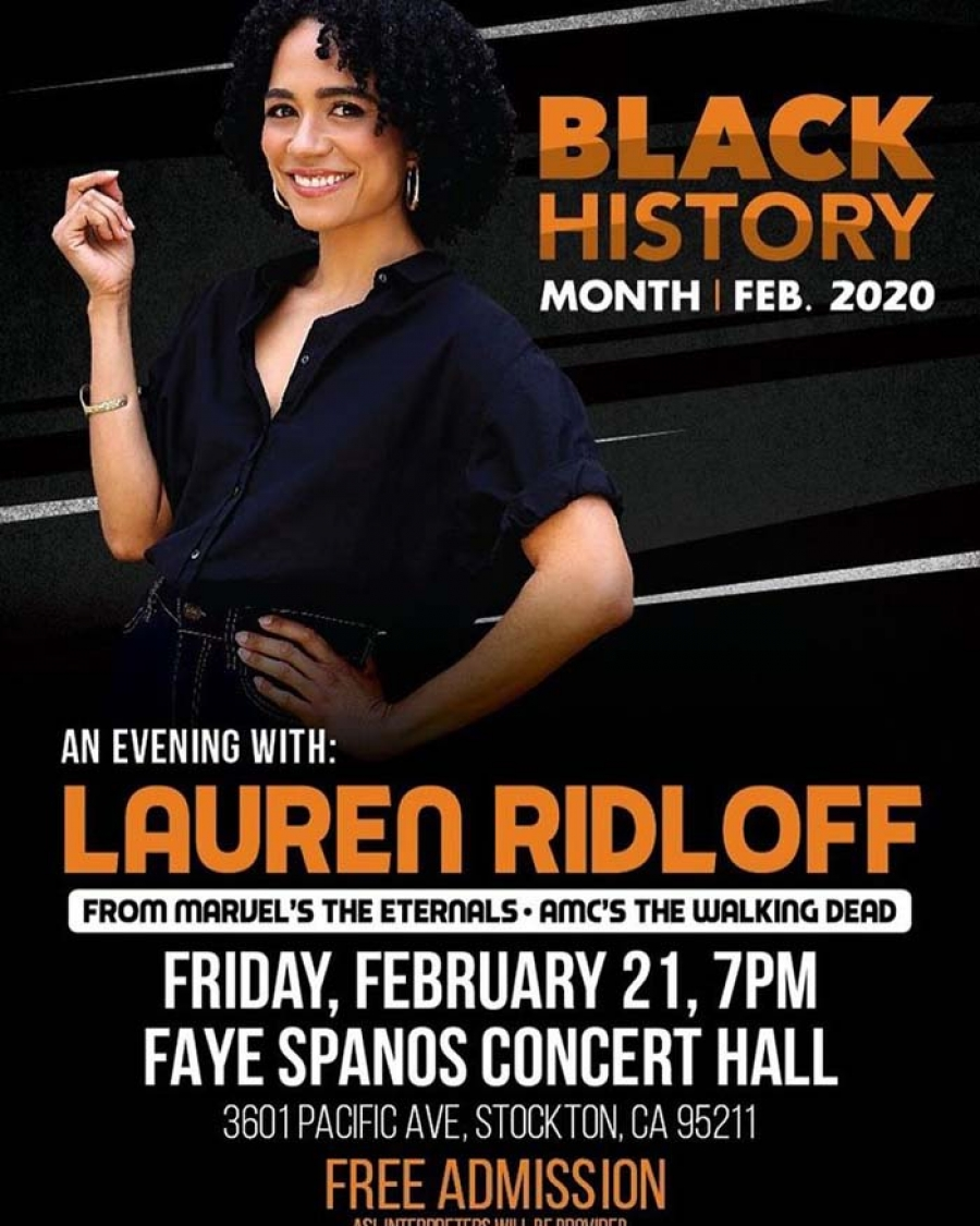 Broadway award-winning actress & television star Lauren Ridloff - Keynote at Black History Month Celebration