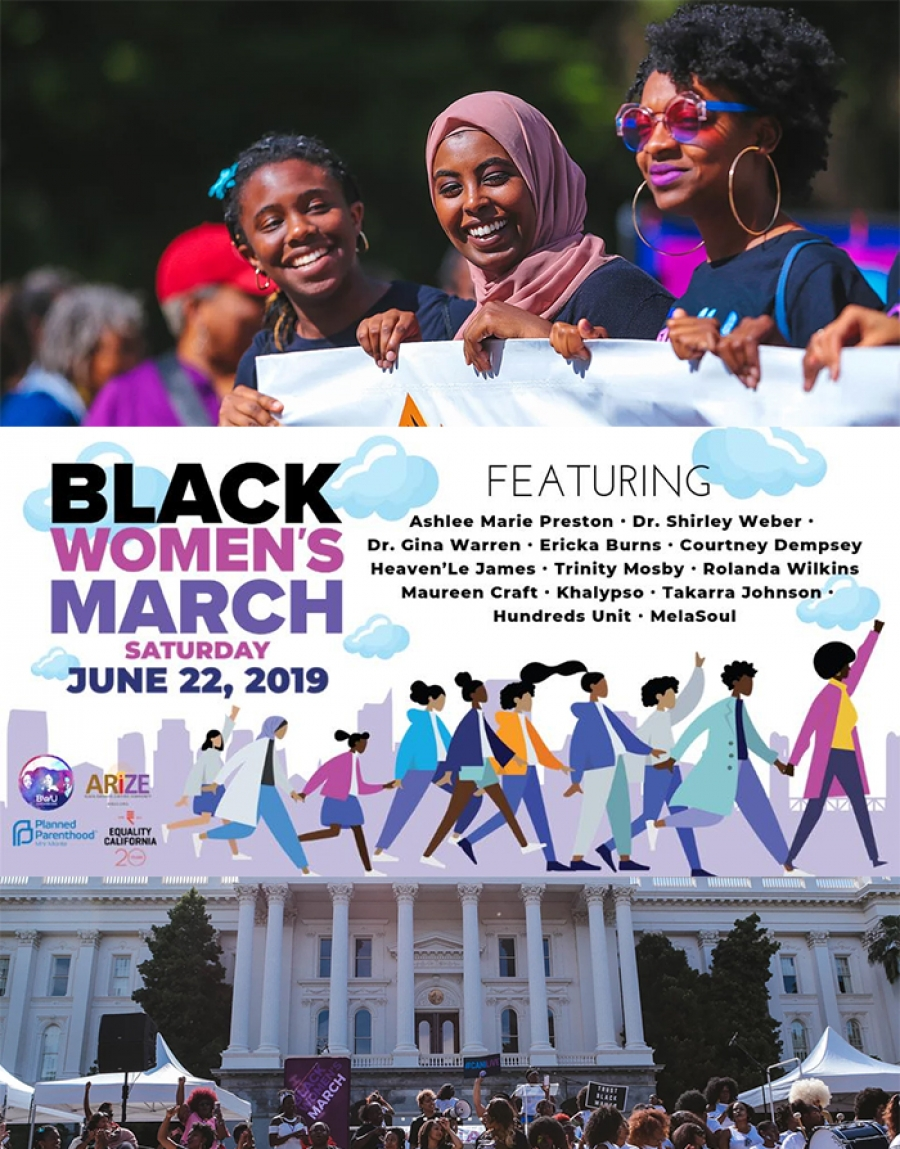 WILL YOU BE THERE? 3rd Annual BWU Black Women's March Saturday, June 22, 2019 | 9 am to 12 noon | #SHELeads