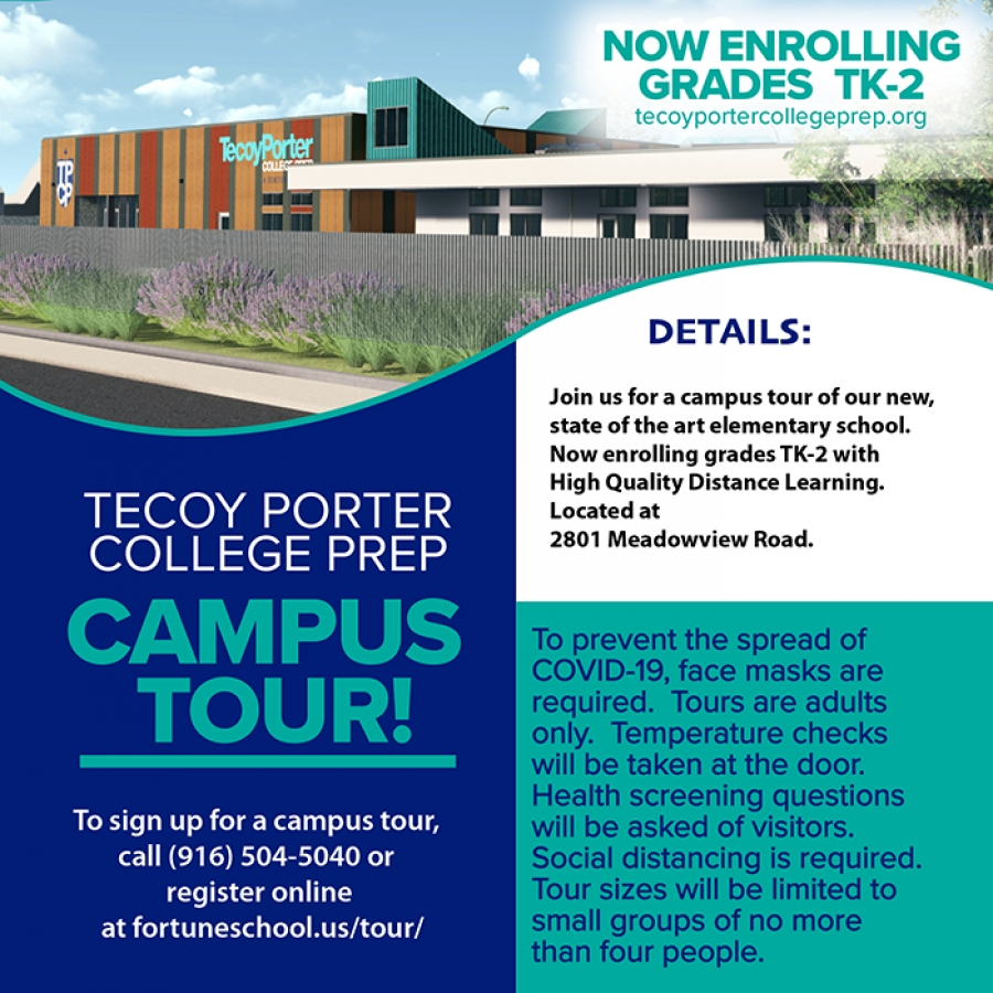 Sign up Now for the Tecoy Porter College Prep Campus Tour