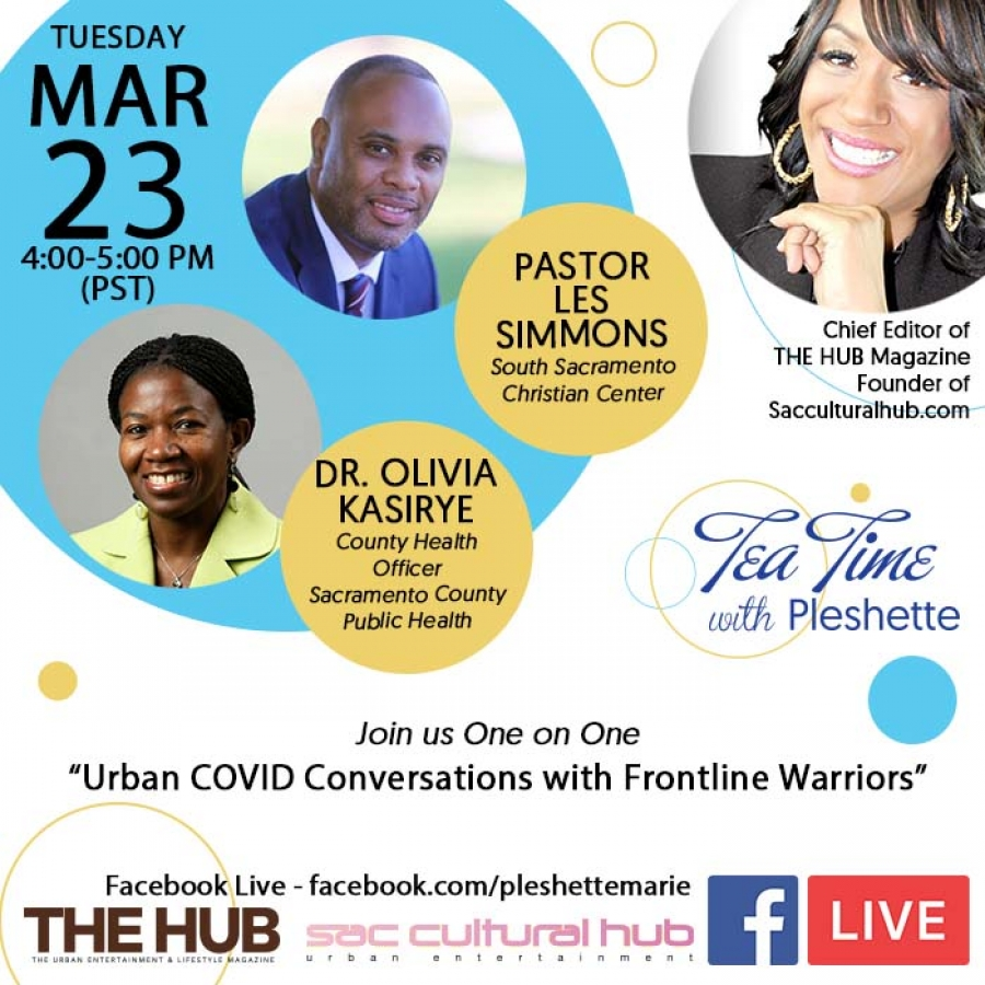 "Tea Time with Pleshette featuring ""Urban COVID Conversations with Frontline Warriors"""