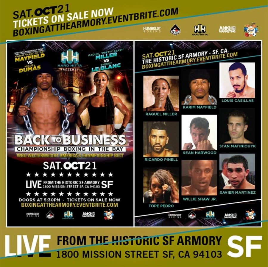 Championship BOXING IN THE BAY - Saturday, Oct 21