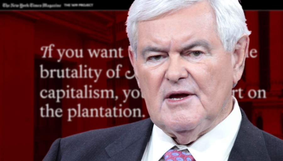 Newt Gingrich says slavery needs to be put 'in context', calls 1619 project a 'lie'