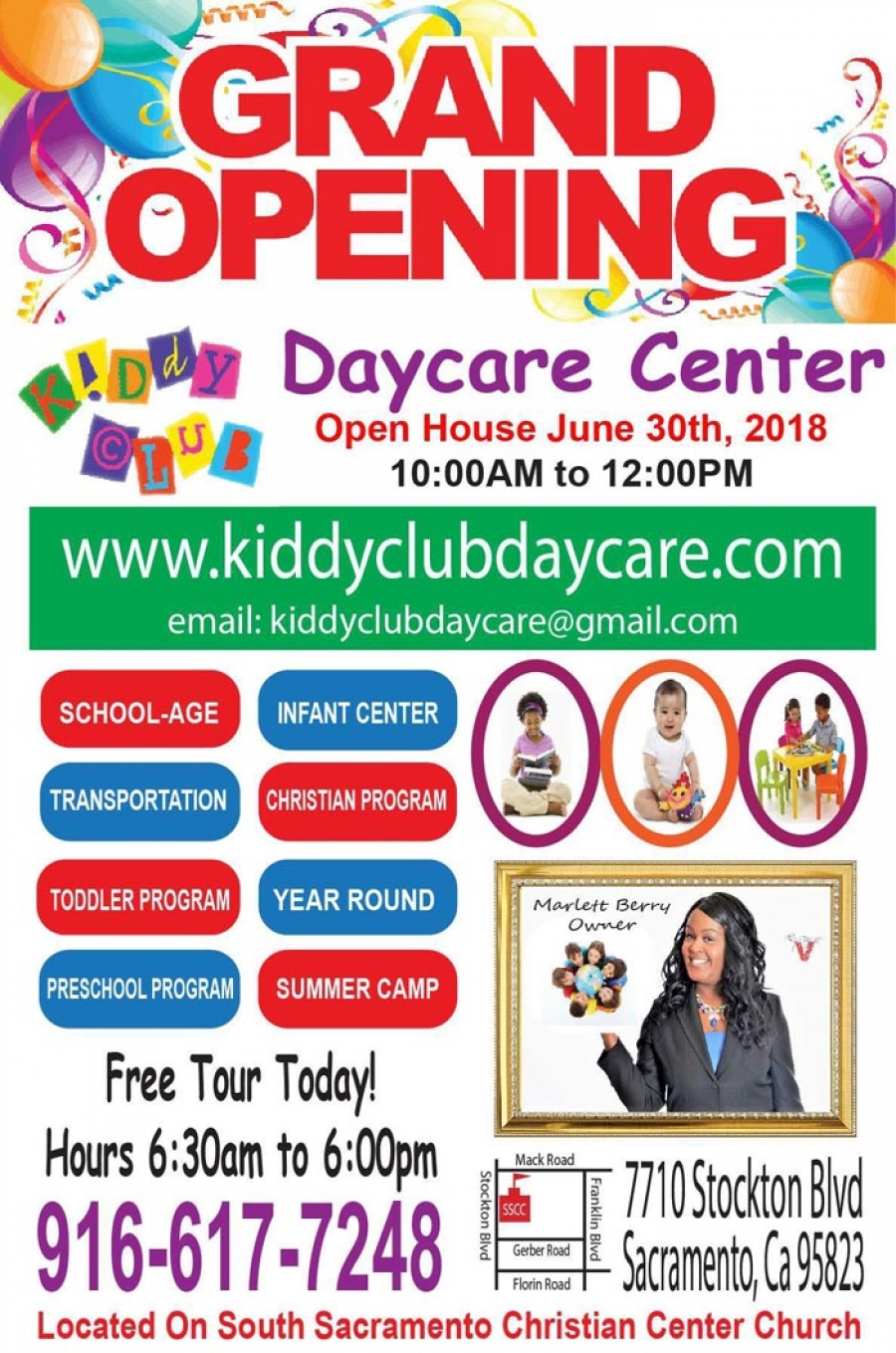 GRAND OPENING of the 2nd location of Kiddy Club Day Care at South Sacramento ChristianCenter Church