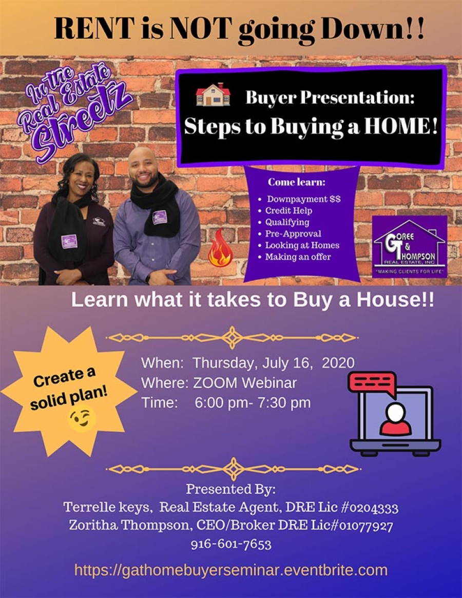 Steps to BUYING a HOME! Rent is NOT going down!