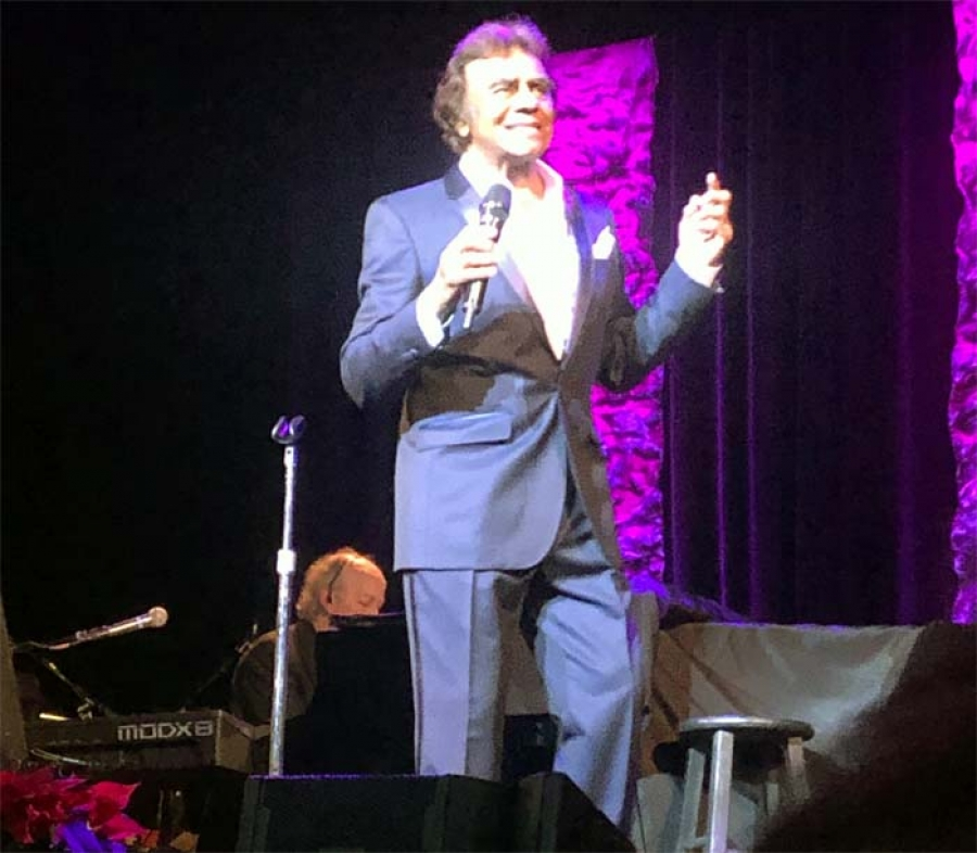 Mathis at the Bob Hope Theatre in Stockton, California, December 12, 2019