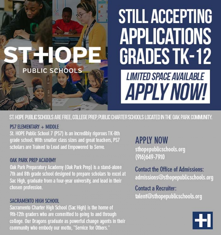 St. Hope Public Schools - Still Accepting Applications grades TK-12