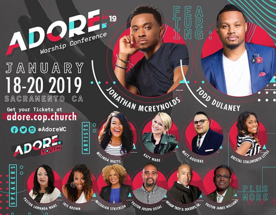 REGISTER NOW for the Adore Worship conference featuring Jonathan McReynolds & Todd Dulaney