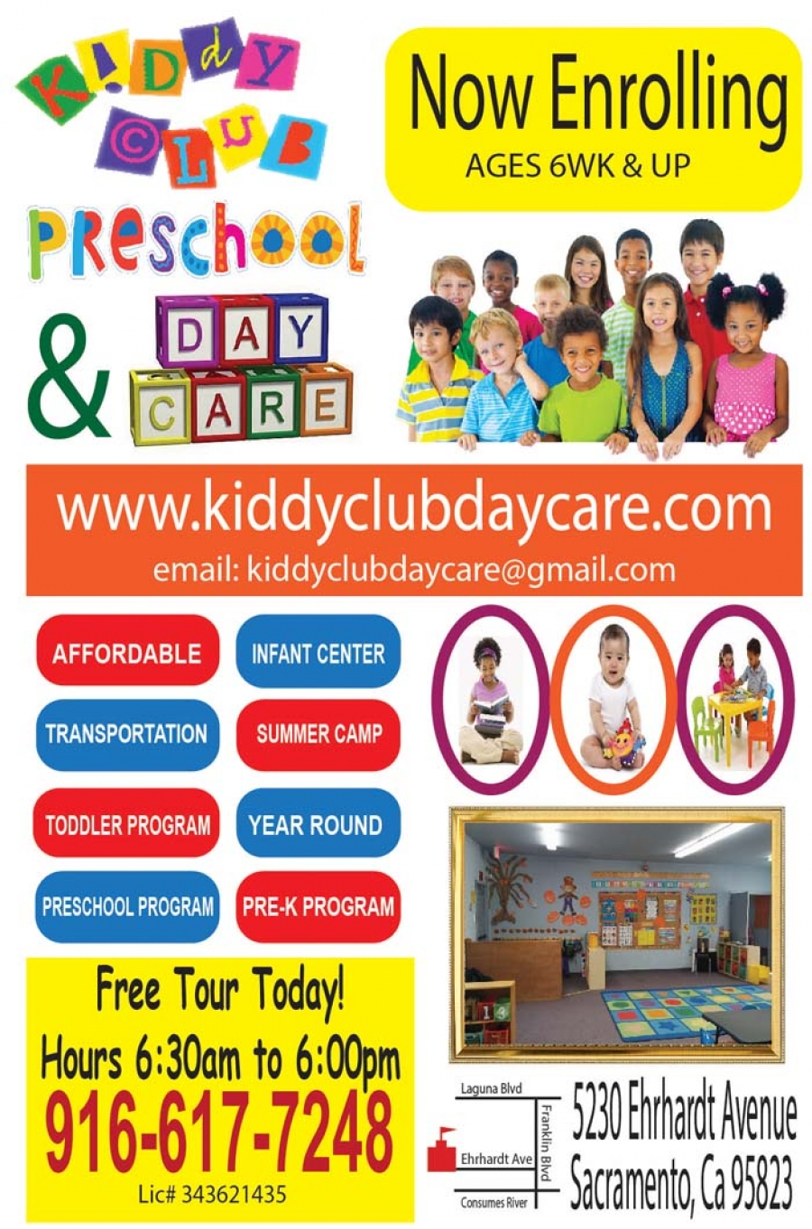 Now Enrolling for Kiddy Club Daycare