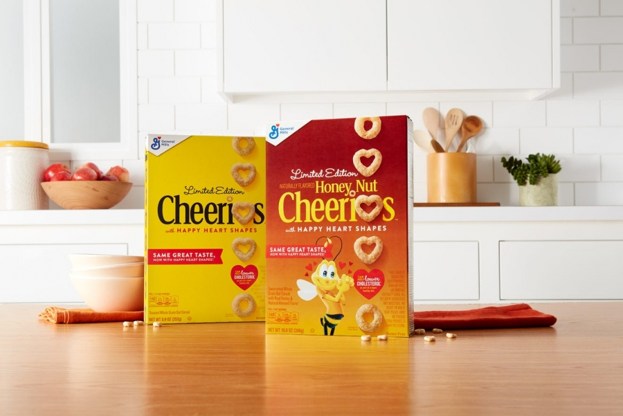 General Mills adding hearts into Honey Nut Cheerios and Cheerios cereal
