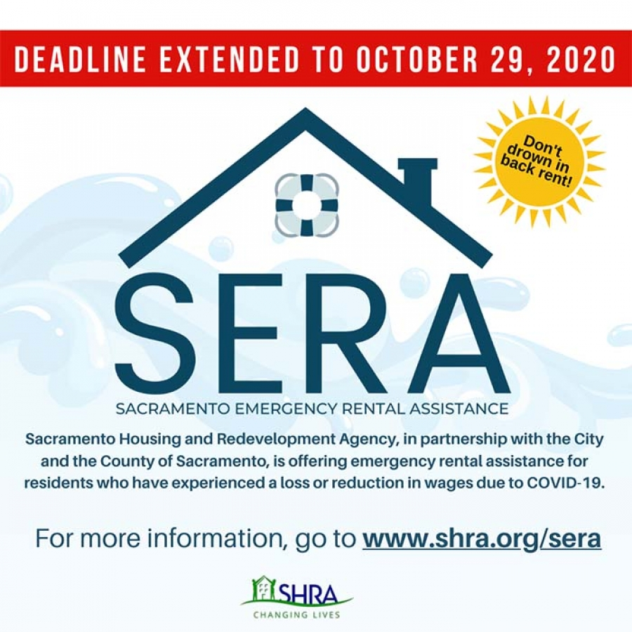 Application deadline extended for Sacramento Emergency Rental Assistance (SERA) Program for renters impacted by COVID-19