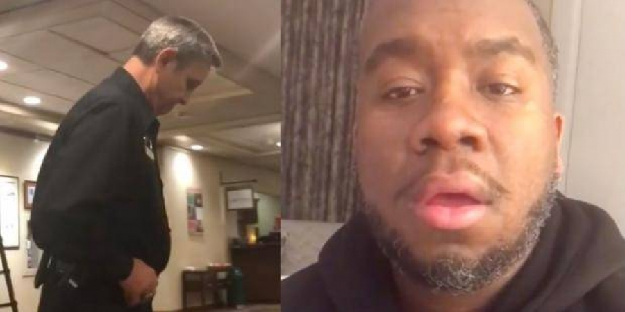 Black man was on the phone with his mom while in a hotel lobby -- and then the police were called