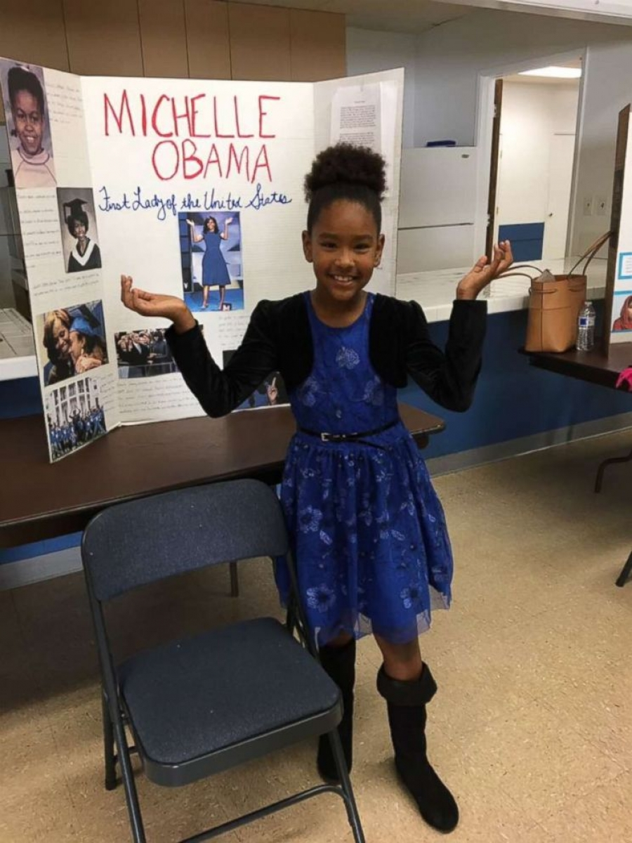 Michelle Obama on girl's school project about her: 'This gets an A+ in my book!""