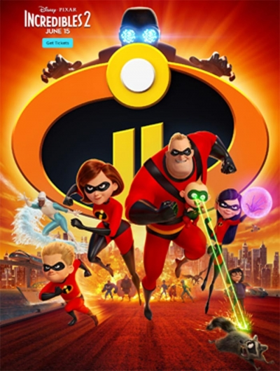 Incredibles 2, Opening June 5th
