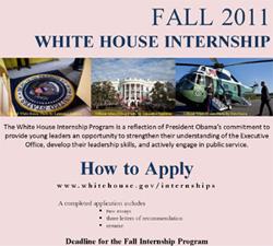 Fall 2011 White House Internsthip