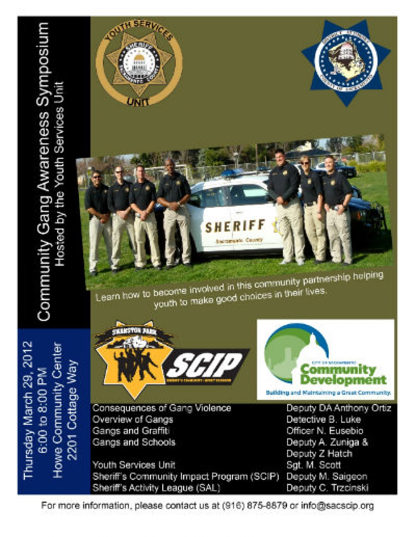 Sac Sheriff to Hold Community Gang Awareness Symposium
