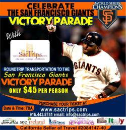 SacTrips.com Offers Getaways to SF Giants Parade, Jamaica, New York, More