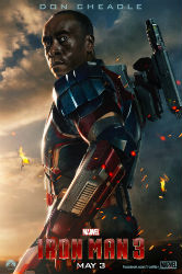 """Don Cheadle Featured in New """"Iron Man 3"""" Poster"""