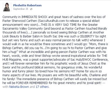 In Memory of Bishop Carthen