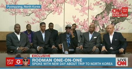 Angry Dennis Rodman defends North Korea basketball game
